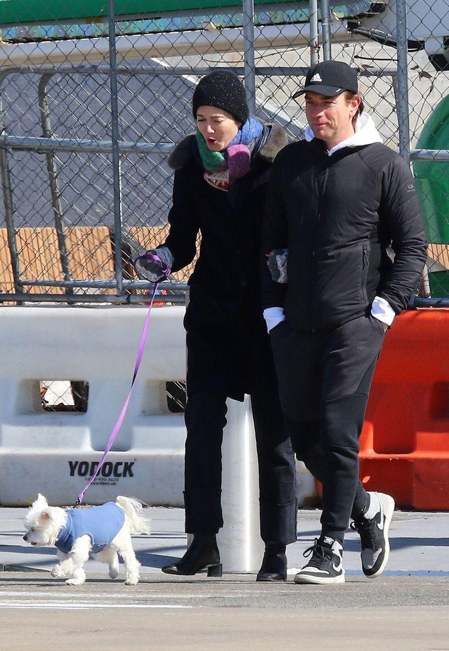 Mary Elizabeth Winstead et Ewan McGregor à New York le 1er mars 2020