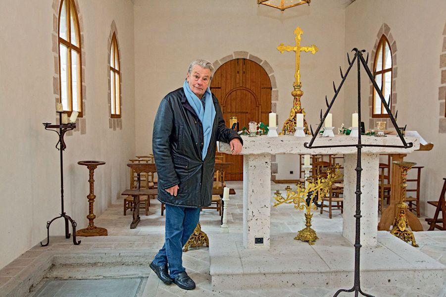 Il avait la soixantaine quand il a fait construire cette chapelle où il sera enterré : « Je n'ai absolument pas peur de la mort. »