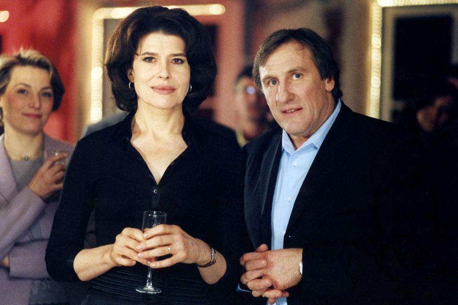"""Fanny Ardant et Gérard Depardieu dans """"Nathalie"""" en 2003."""