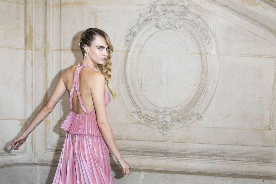 Cara Delevingne lors du défilé Christian Dior à Paris, le 26 février 2019