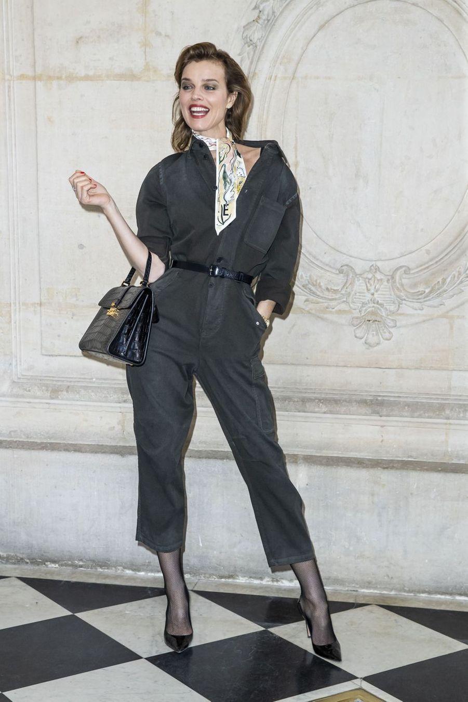 Eva Herzigovalors du défilé Christian Dior à Paris, le 26 février 2019