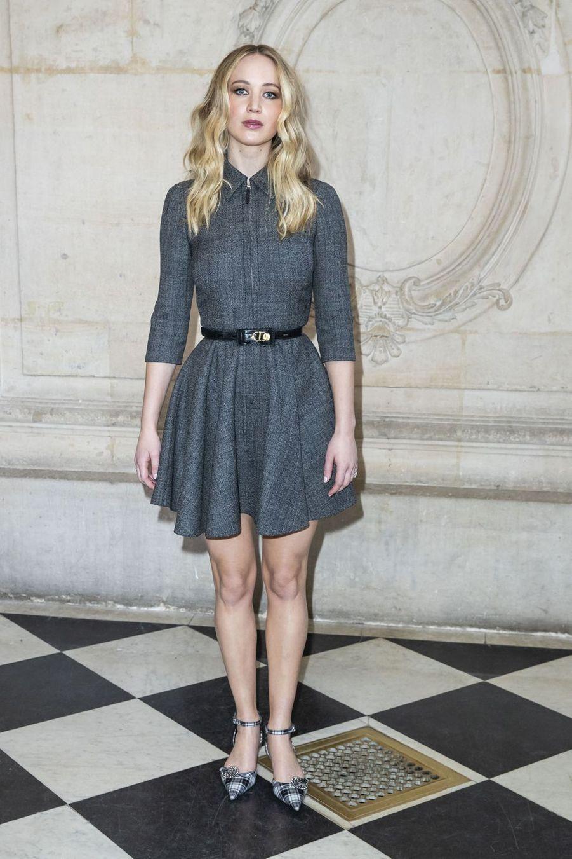 Jennifer Lawrence lors du défilé Christian Dior à Paris, le 26 février 2019
