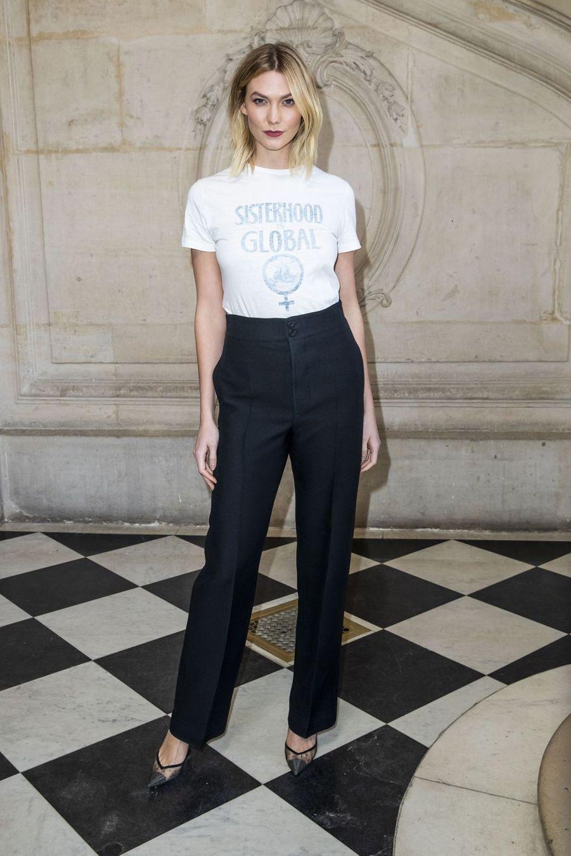 Karlie Kloss lors du défilé Christian Dior à Paris, le 26 février 2019