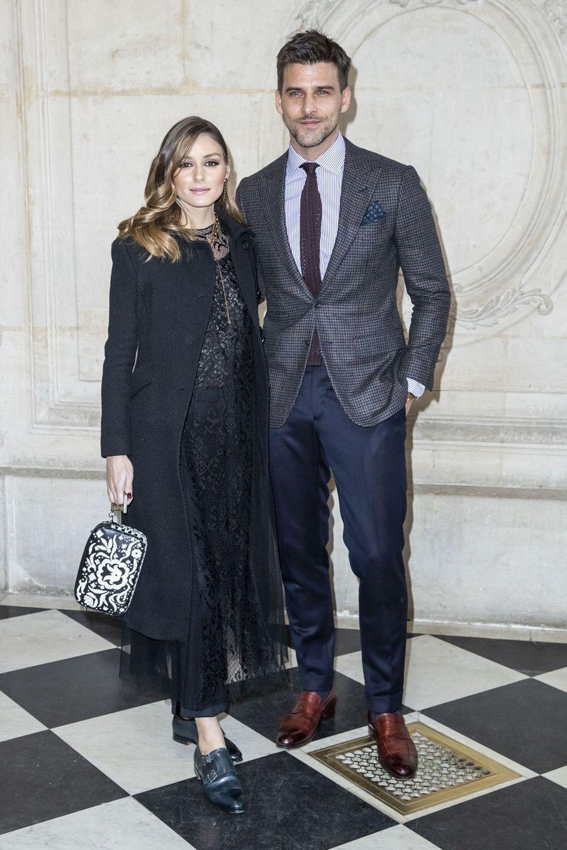 Olivia Palermo etson mari Johannes Huebl lors du défilé Christian Dior à Paris, le 26 février 2019