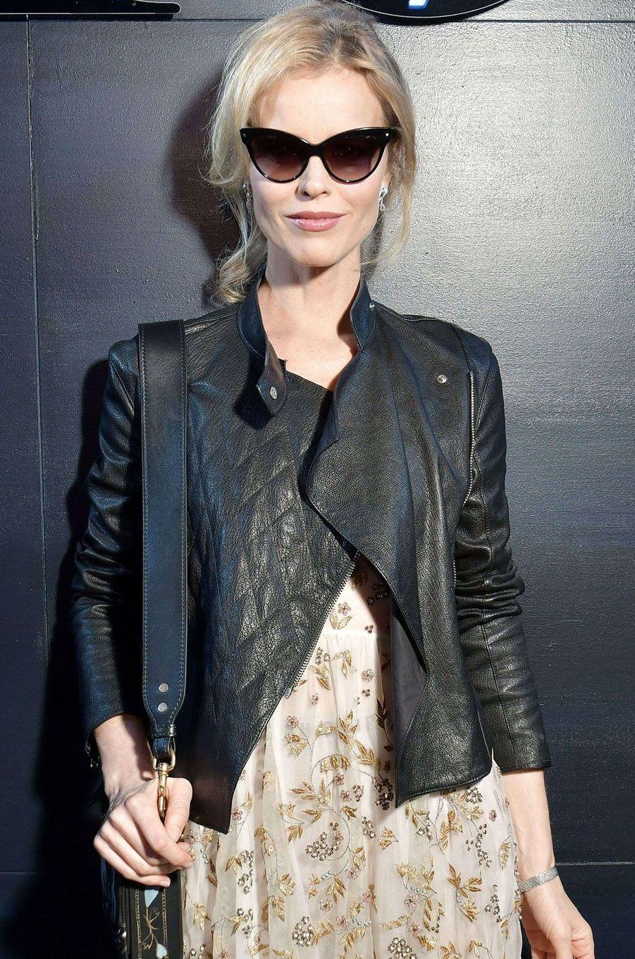 Eva Herzigova au défilé Dior.