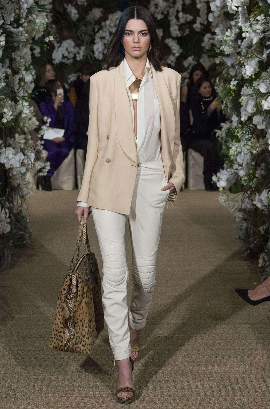 Kendall Jenner pour Ralph Lauren à New York.