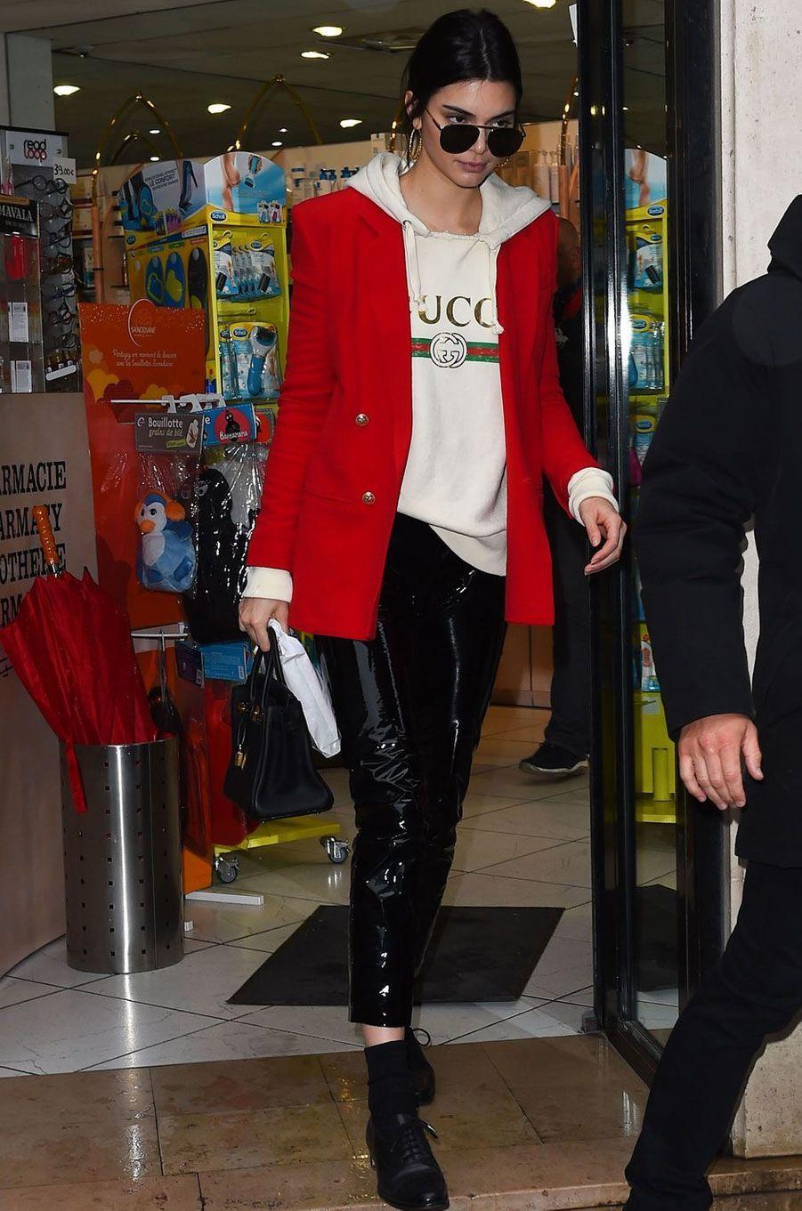 Kendall Jenner à Paris le 1er mars 2017.