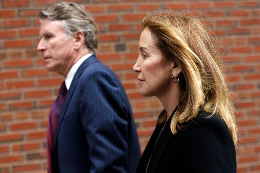 Felicity Huffman à Boston, le 13 mai 2019