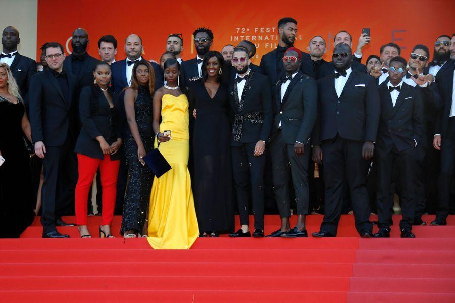 L'équipe des «Misérables» de Ladj Ly.