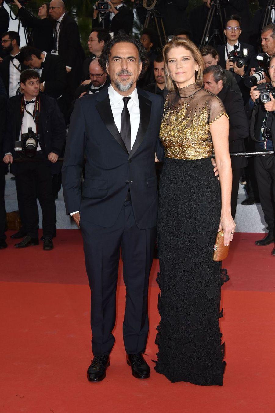 Alejandro González Iñárritu etMaría Eladia Hagerman auFestival de Cannes 2019.