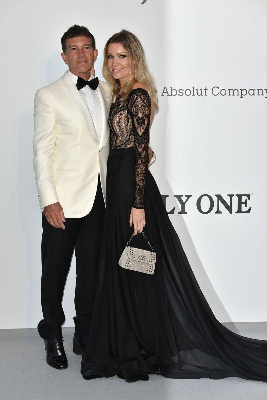 Antonio Banderas et Nicole Kempel auFestival de Cannes 2019.