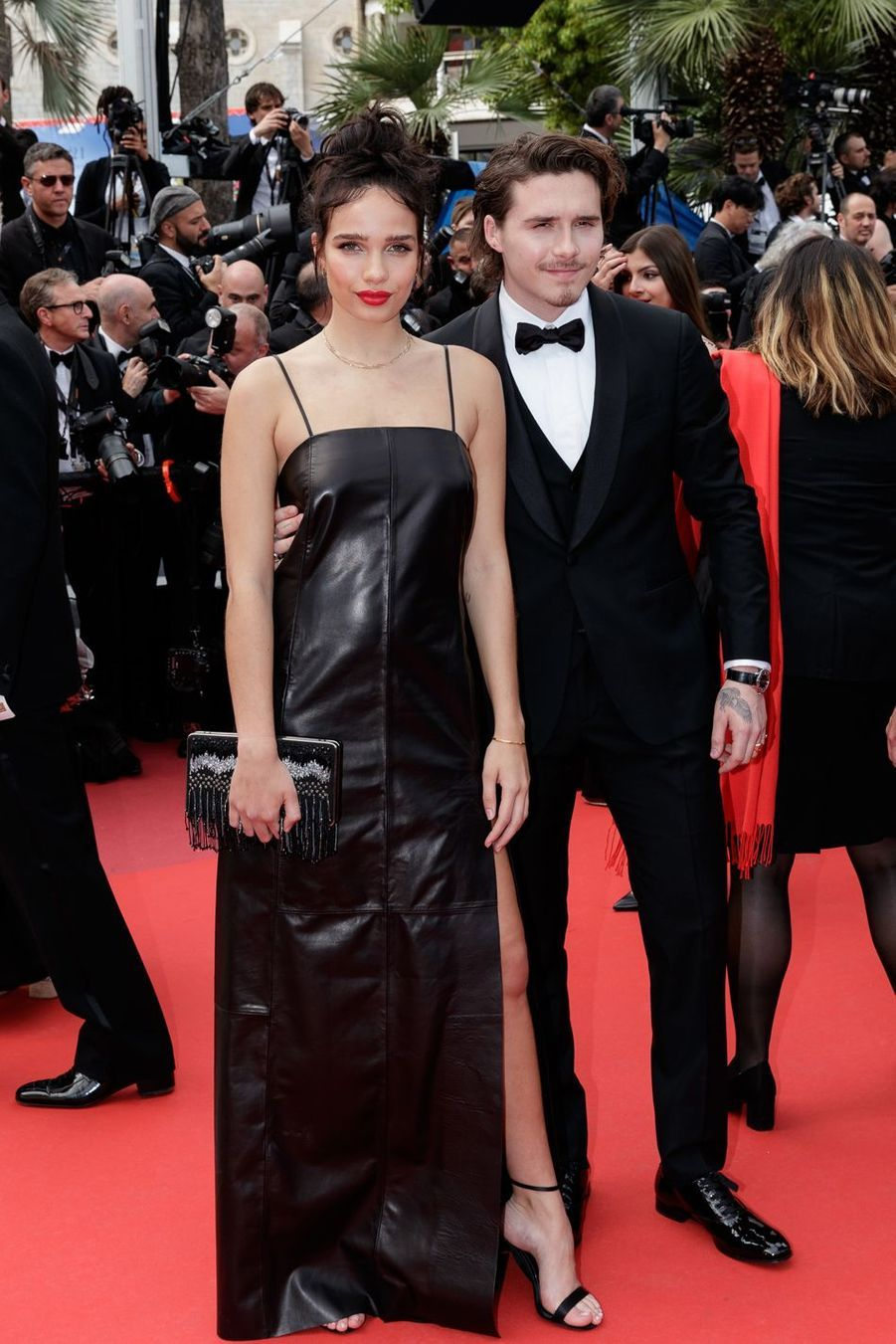 Brooklyn Beckham et Hana Cross au Festival de Cannes 2019.