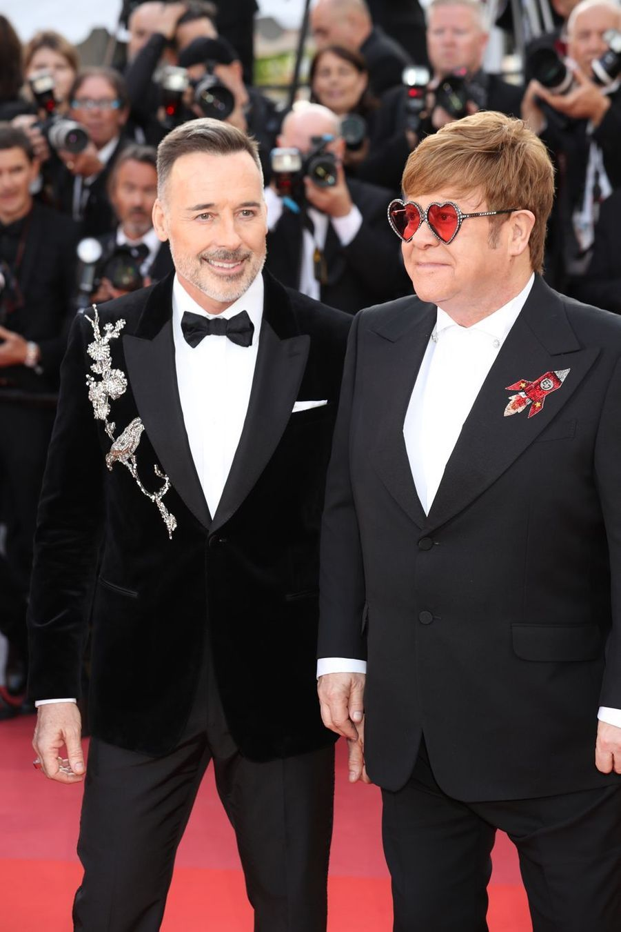 Elton John et David Furnish au Festival de Cannes 2019.