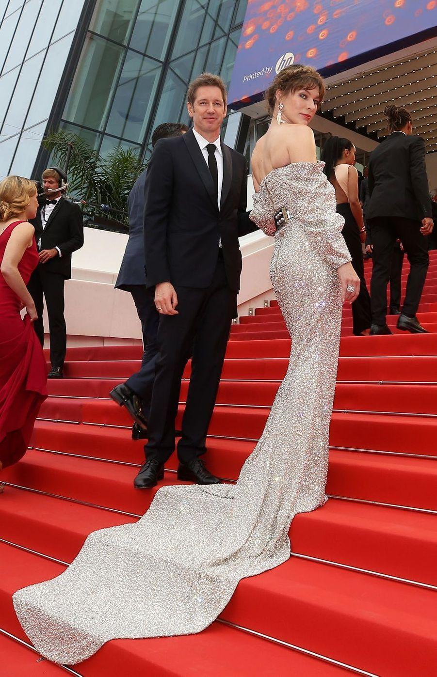 Milla Jovovich et Paul Anderson auFestival de Cannes 2019.