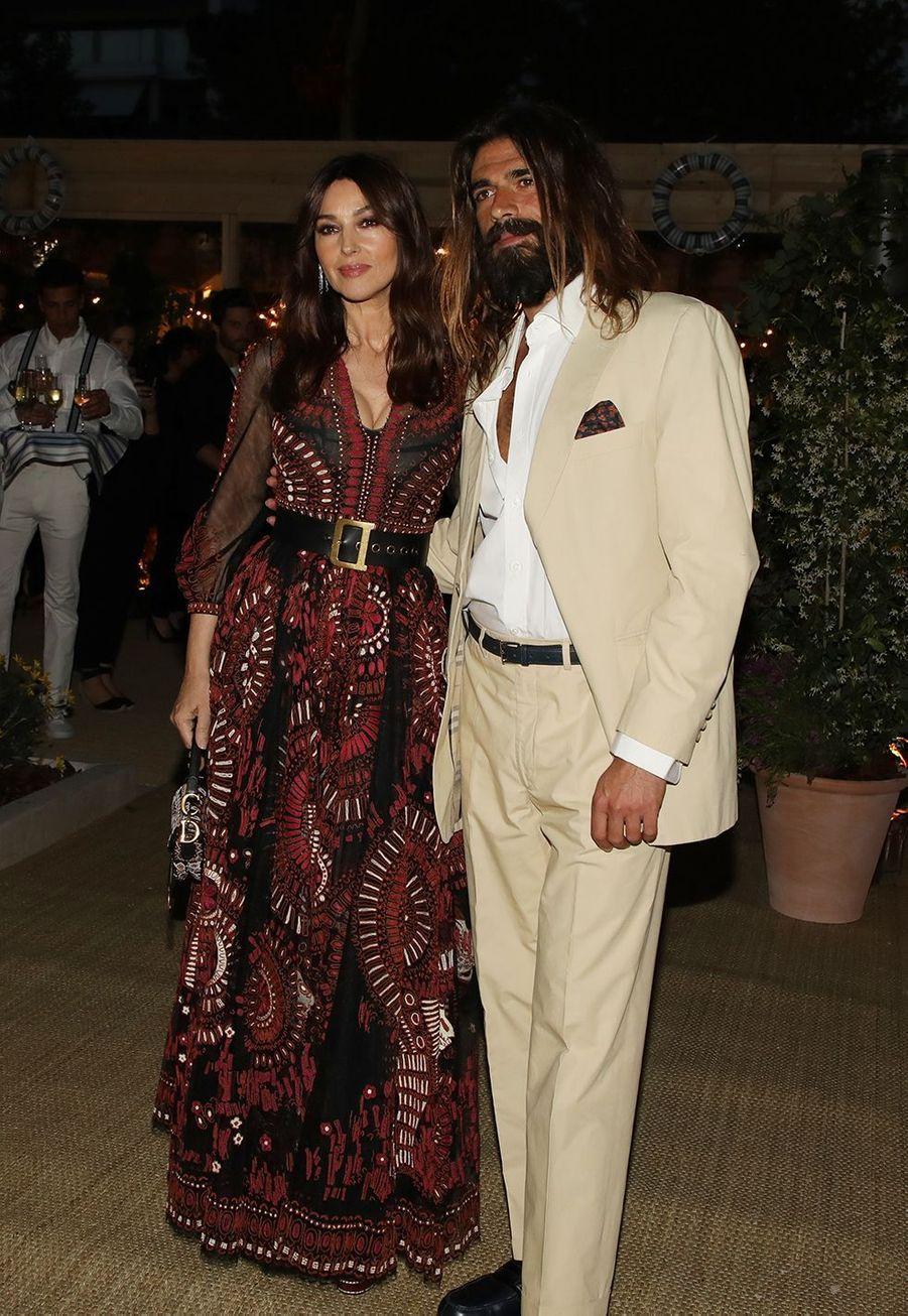 Monica Bellucci et Nicolas Lefebvre au Festival de Cannes 2019.