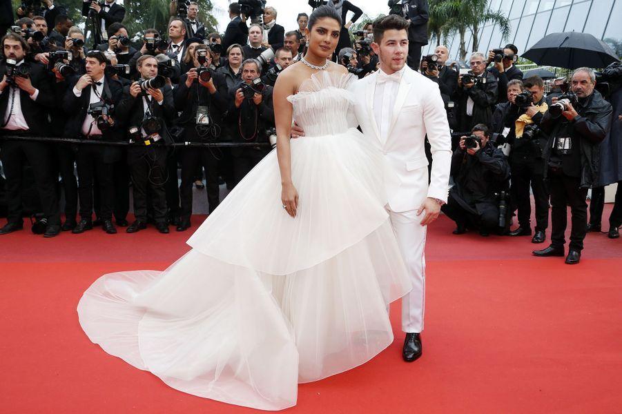 Nick Jonas etPriyanka ChopraauFestival de Cannes 2019.