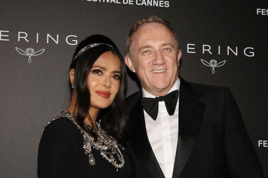 Salma Hayek et François-Henri Pinault auFestival de Cannes 2019.