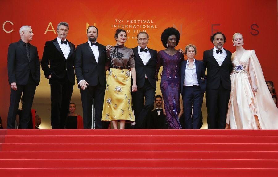 Les membres du jury lors de la montée des marches du film «The Dead Don't Die» lors du 72e Festival de Cannes le 14 mai 2019
