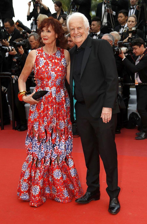 Sabine Azéma et André Dussolierlors de la montée des marches du film «The Dead Don't Die» lors du 72e Festival de Cannes le 14 mai 2019