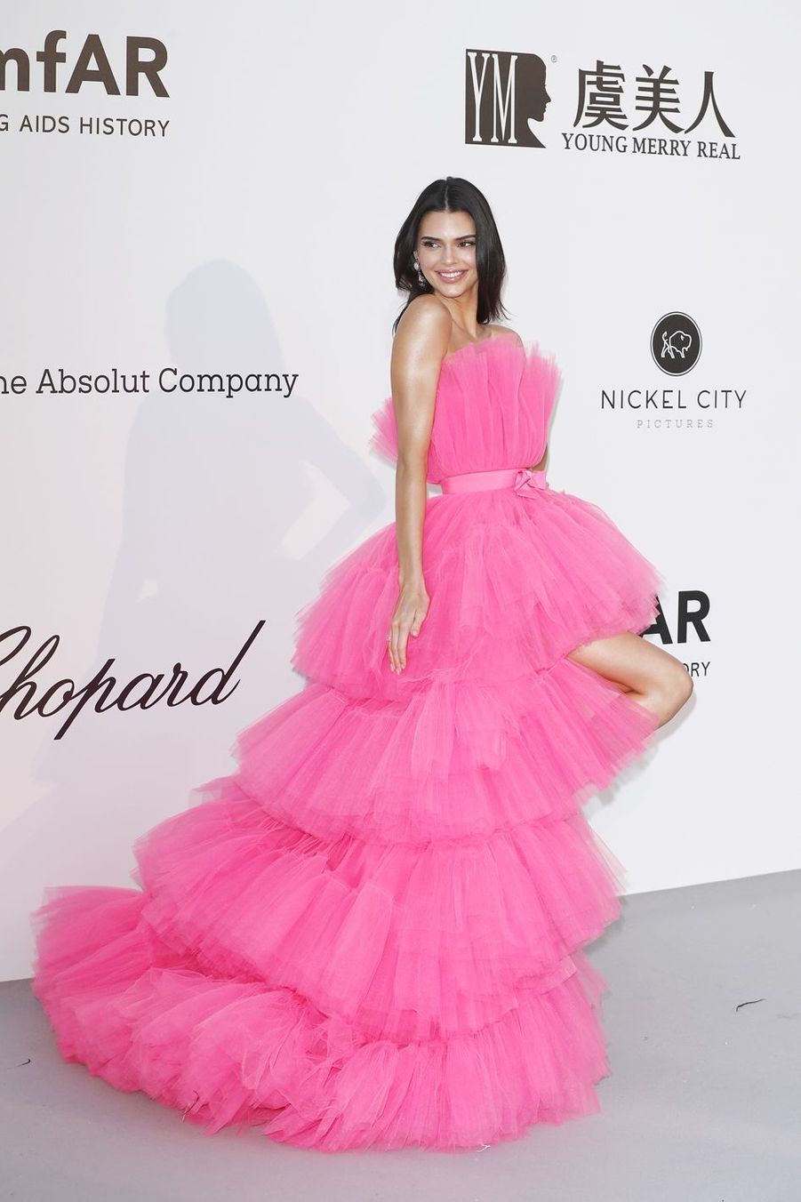 Kendall Jennerau gala de l'amfAR à Antibes en marge du Festival de Cannes le 23 mai 2019