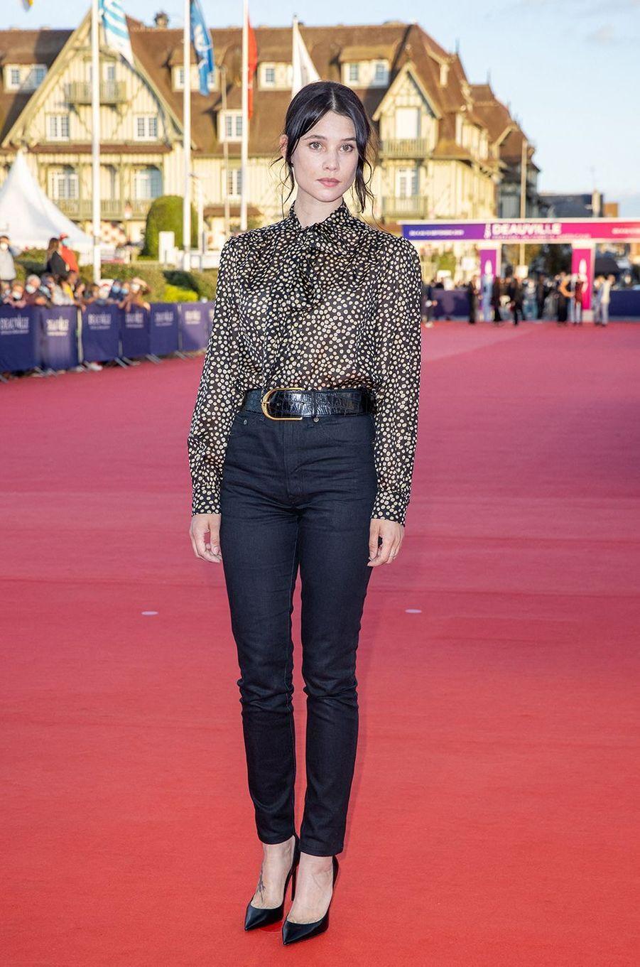 Astrid Bergès-Frisbeyà l'avant-première du film «Les Deux Alfred» lors du 46ème Festival du cinéma Américain de Deauville, le 6 septembre 2020