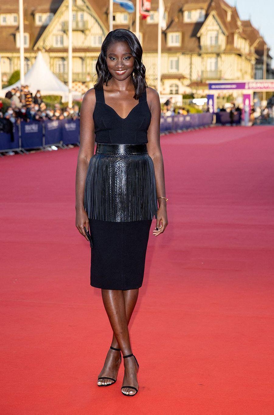 Karidja Touréà l'avant-première du film«The Professor & The Bad Man» lors du 46ème Festival du cinéma américain de Deauville le 5 septembre 2020