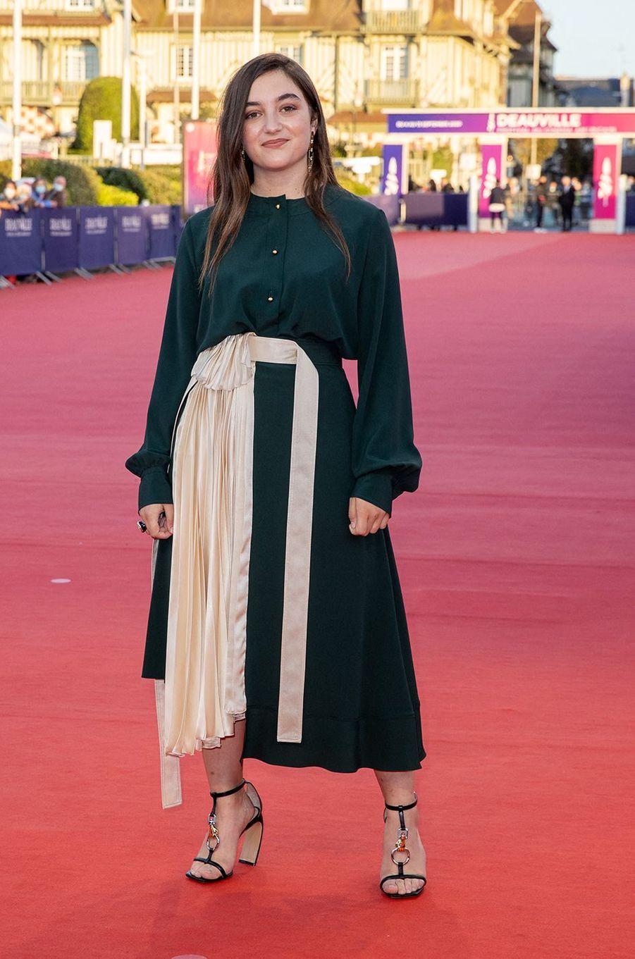 Luana Bajramià l'avant-première du film «Les Deux Alfred» lors du 46ème Festival du cinéma Américain de Deauville, le 6 septembre 2020