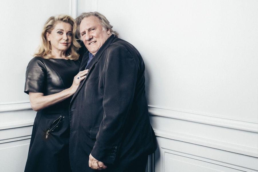 """Le couple Deneuve-Depardieu se reforme pour """"Bonne pomme""""."""