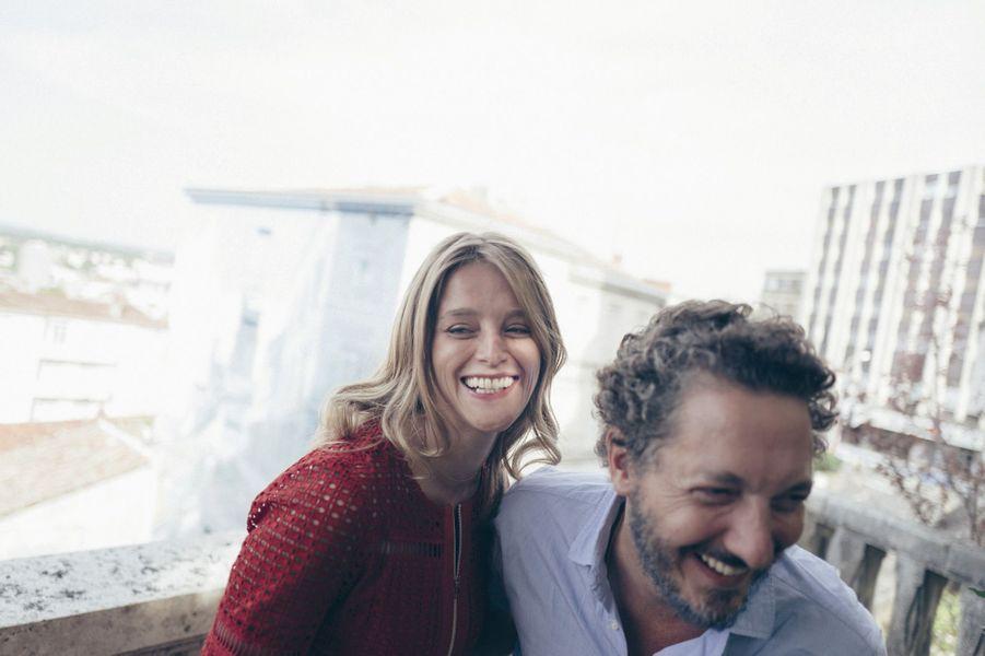Guillaume Gallienne, le metteur en scène de «Maryline», et sa jeune comédienne Adeline d'Hermy.
