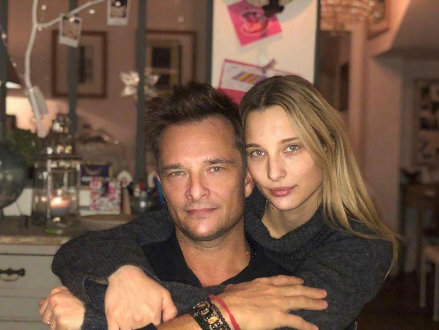 David Hallyday et sa fille Ilona Smet à Paris, le 27 novembre 2017