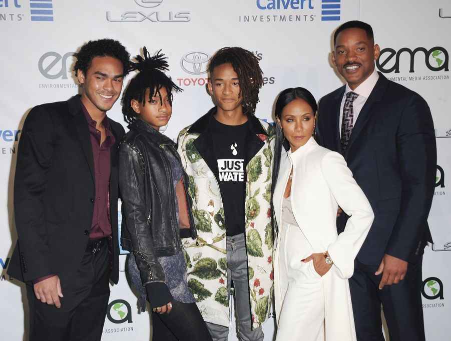 Will Smith, Jada Pinkett Smith et leurs enfants Willow, Jaden et Trey à Los Angeles, le 23 octobre 2016