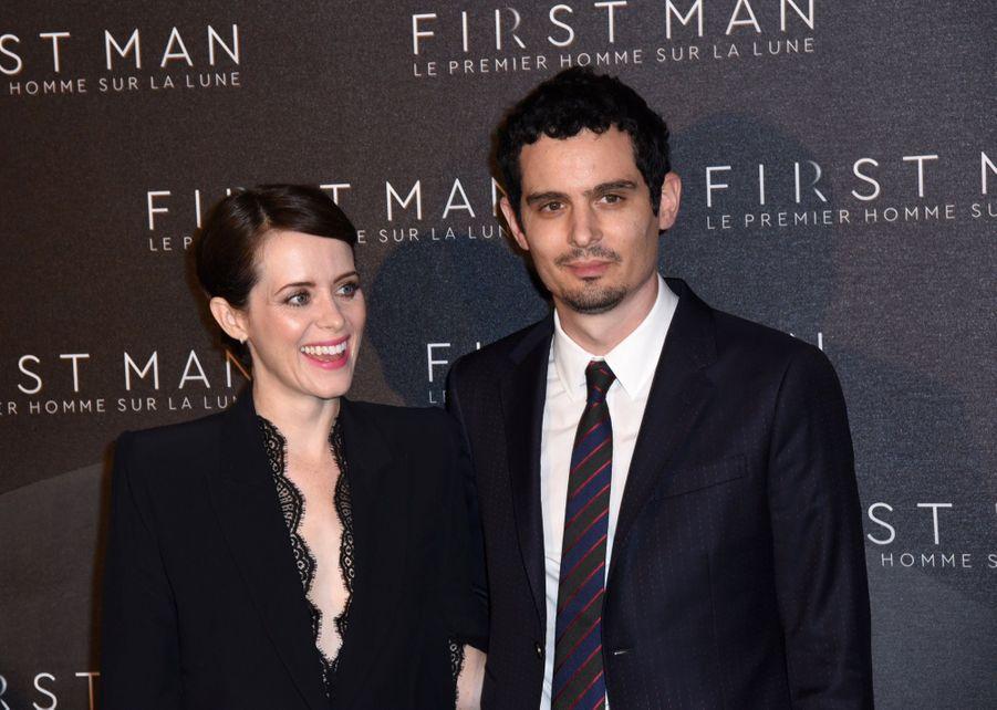 Claire Foy et Damien Chazelle