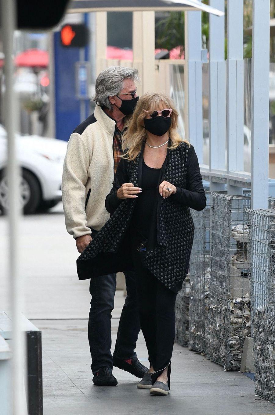 Goldie Hawn et Kurt Russellà Los Angeles le 19 novembre 2020