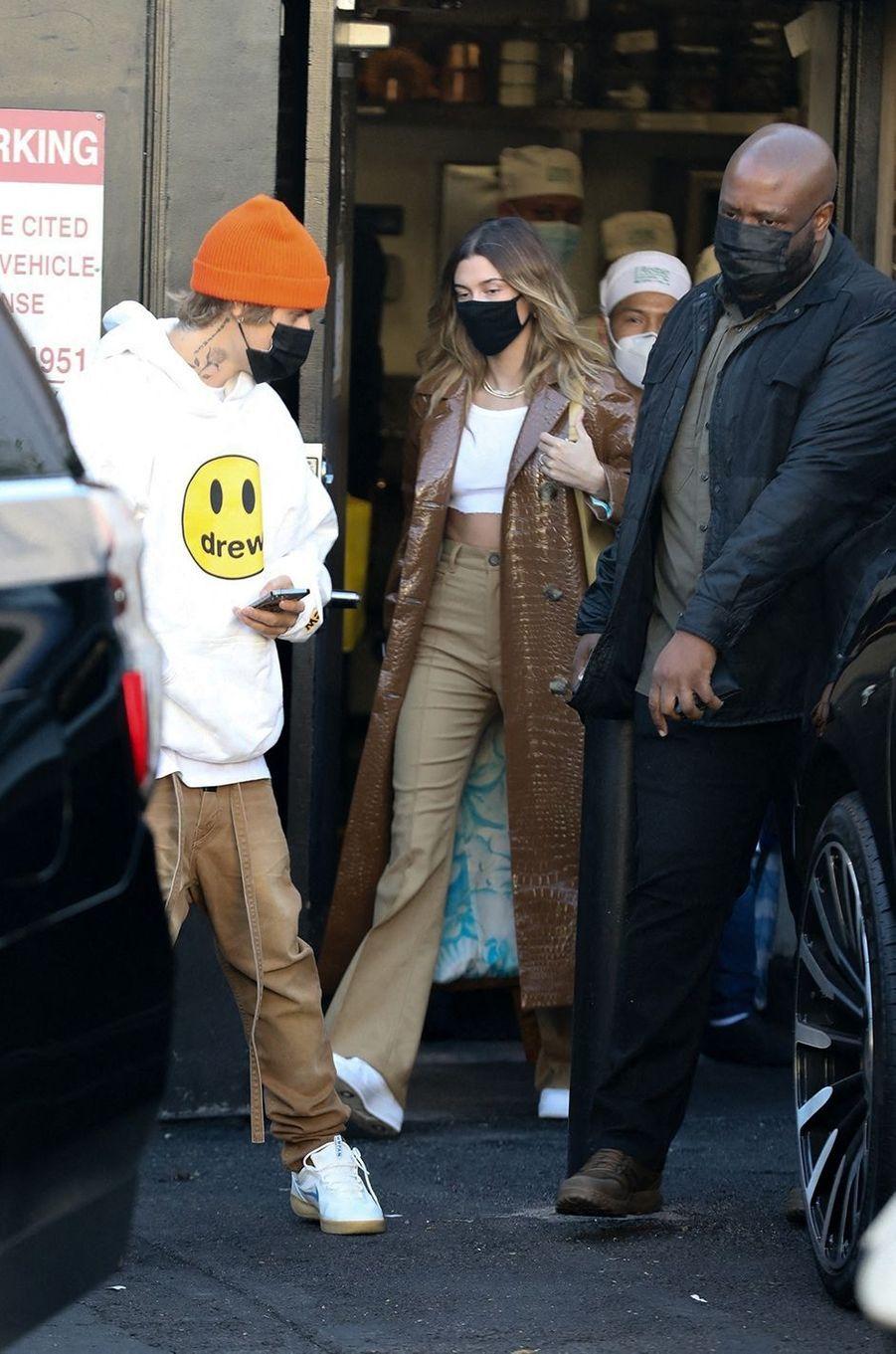 Justin et Hailey Bieberà Los Angeles le 19 novembre 2020