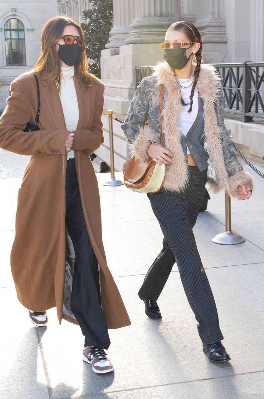 Kendall Jenner et Bella Hadid à New York le 19 novembre 2020