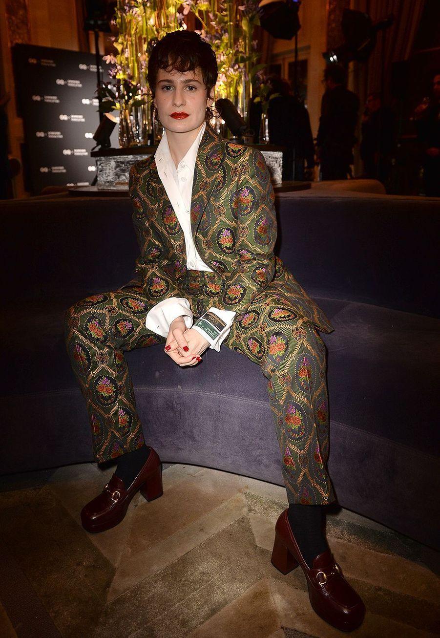 Christine and the Queensà la remise des GQ Awards pour les femmes et les hommes de l'année 2019, à l'hôtel de Crillon à Paris, le 26 novembre 2019.