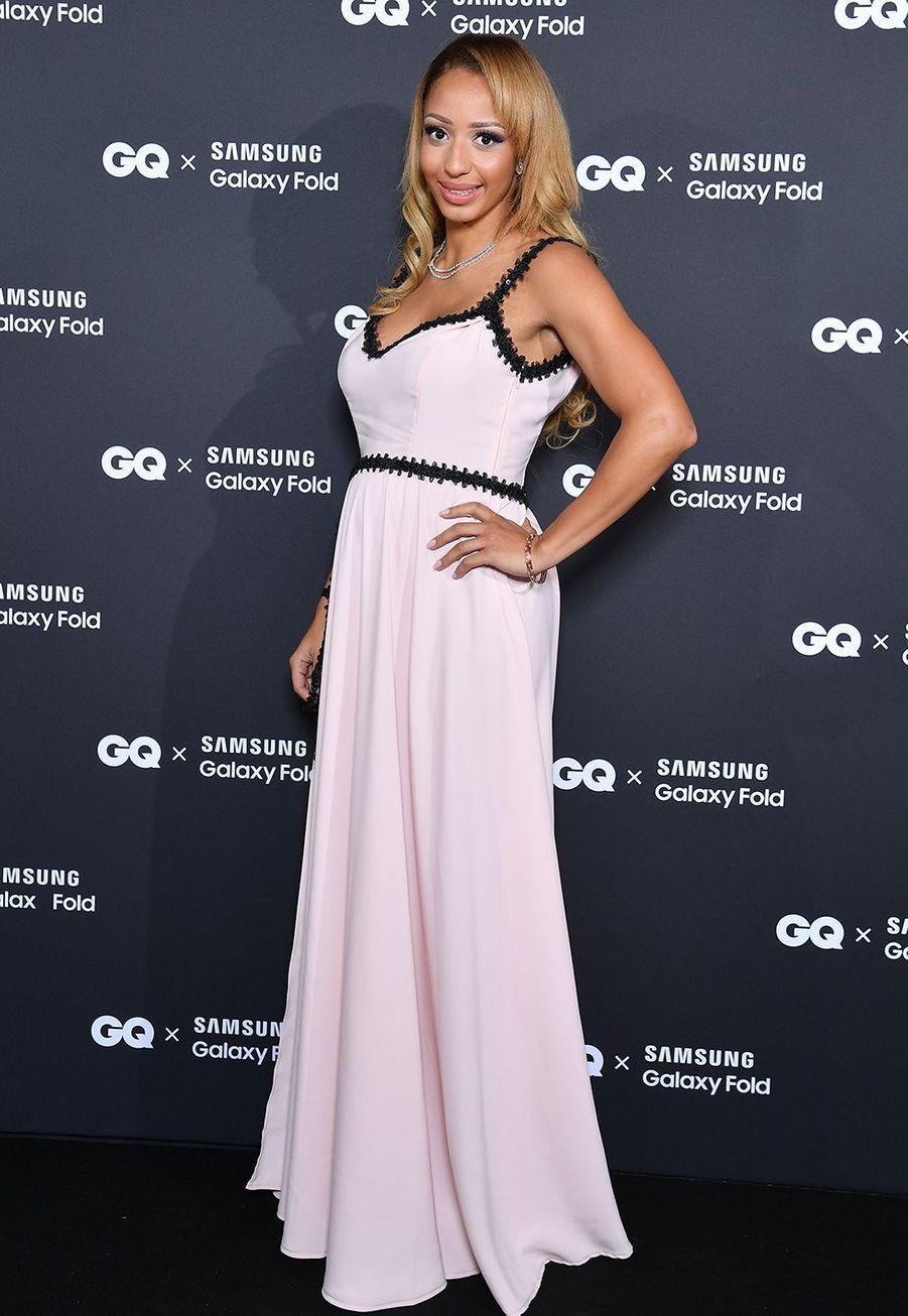 Estelle Mosselyà la remise des GQ Awards pour les femmes et les hommes de l'année 2019, à l'hôtel de Crillon à Paris, le 26 novembre 2019.