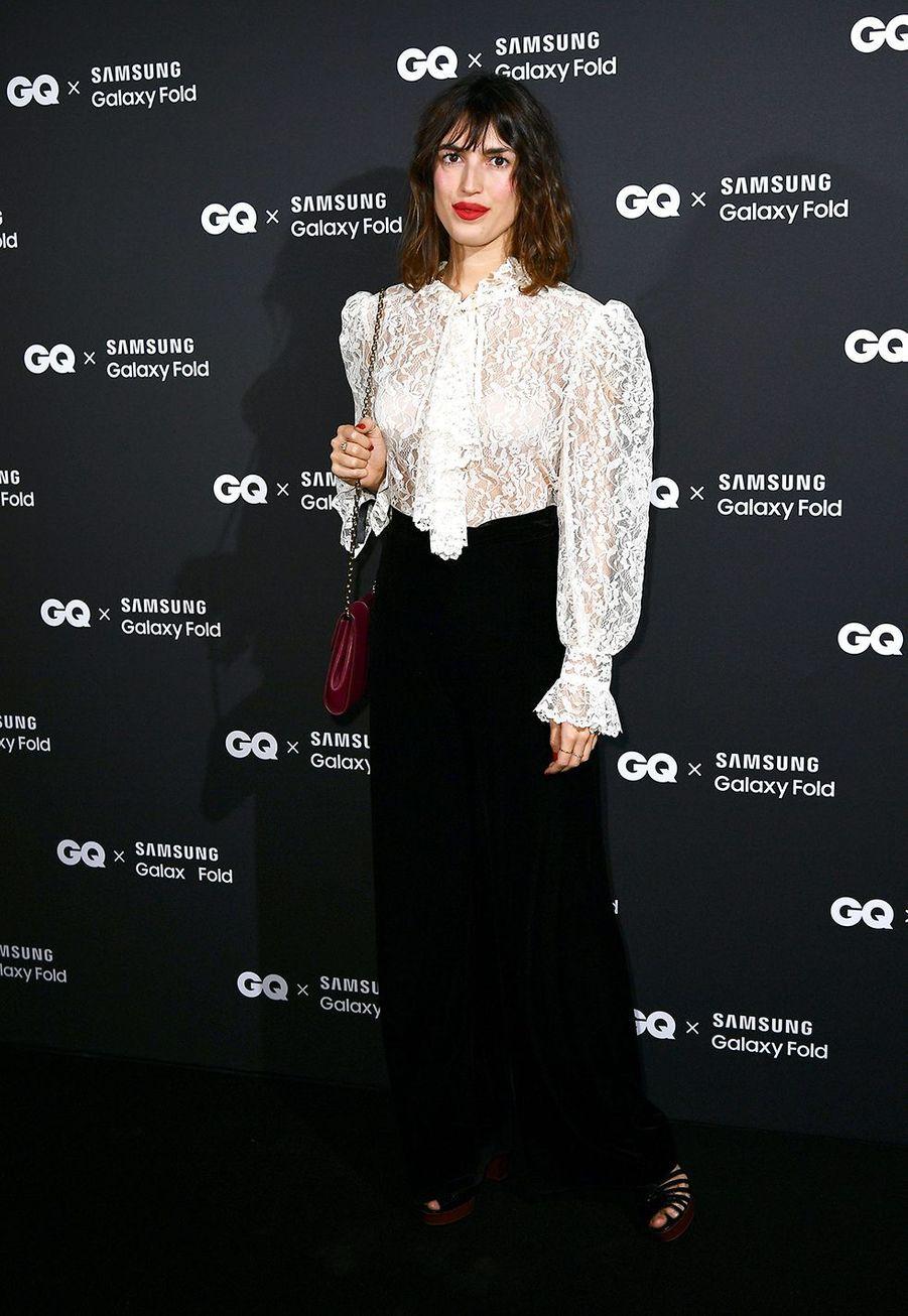 Jeanne Damasà la remise des GQ Awards pour les femmes et les hommes de l'année 2019, à l'hôtel de Crillon à Paris, le 26 novembre 2019.