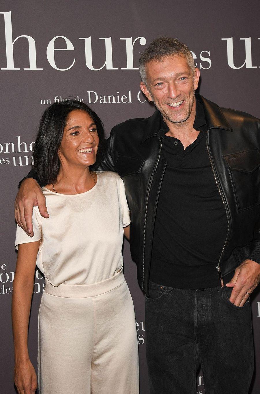 Florence Foresti et Vincent Casselà l'avant-première du film «Le Bonheur des uns...» au cinéma Pathé Opéra Premier à Paris, le 8 septembre 2020