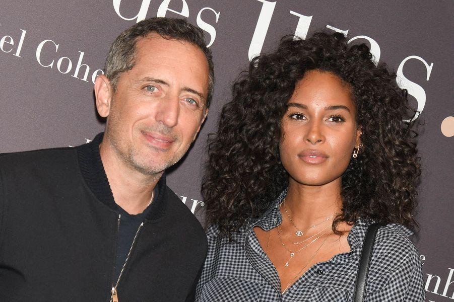 Gad Elmaleh et Cindy Brunaà l'avant-première du film «Le Bonheur des uns...» au cinéma Pathé Opéra Premier à Paris, le 8 septembre 2020