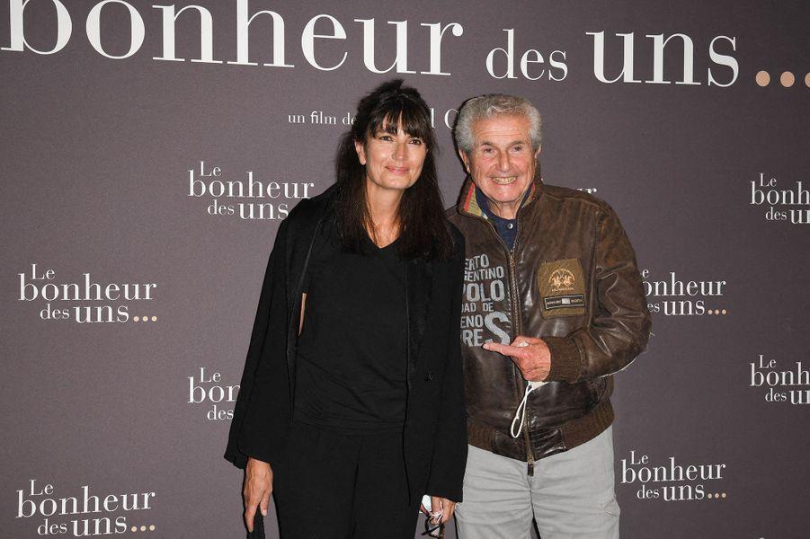 Valérie Perrin et Claude Lelouchà l'avant-première du film «Le Bonheur des uns...» au cinéma Pathé Opéra Premier à Paris, le 8 septembre 2020