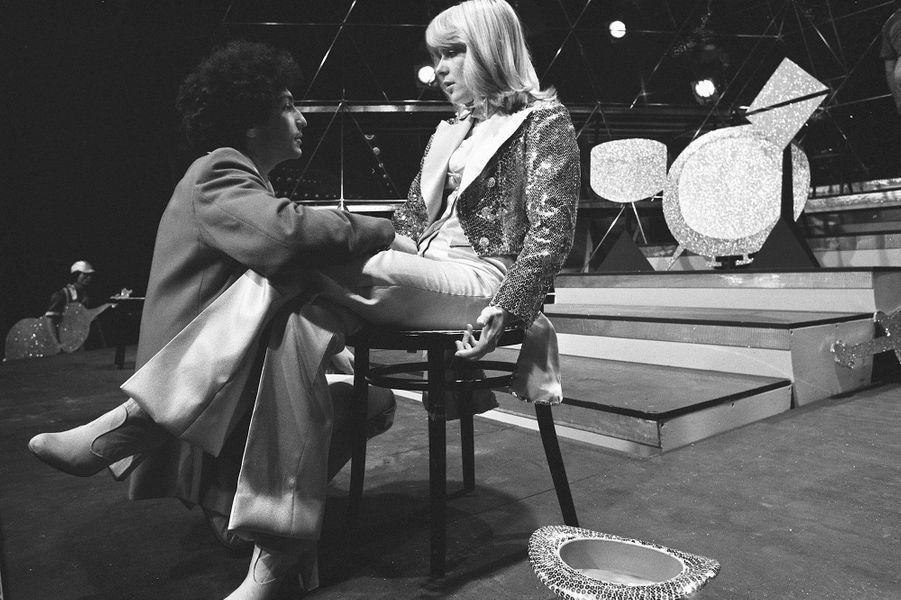France Gall et Michel Berger en 1976 lors d'une émission de télé