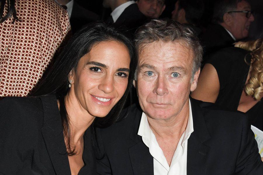 Franck Dubosc et sa femme Danièlelors de la soirée caritative des parrains de l'Appel national pour la Tsedaka à Paris le 1er décembre 2019.