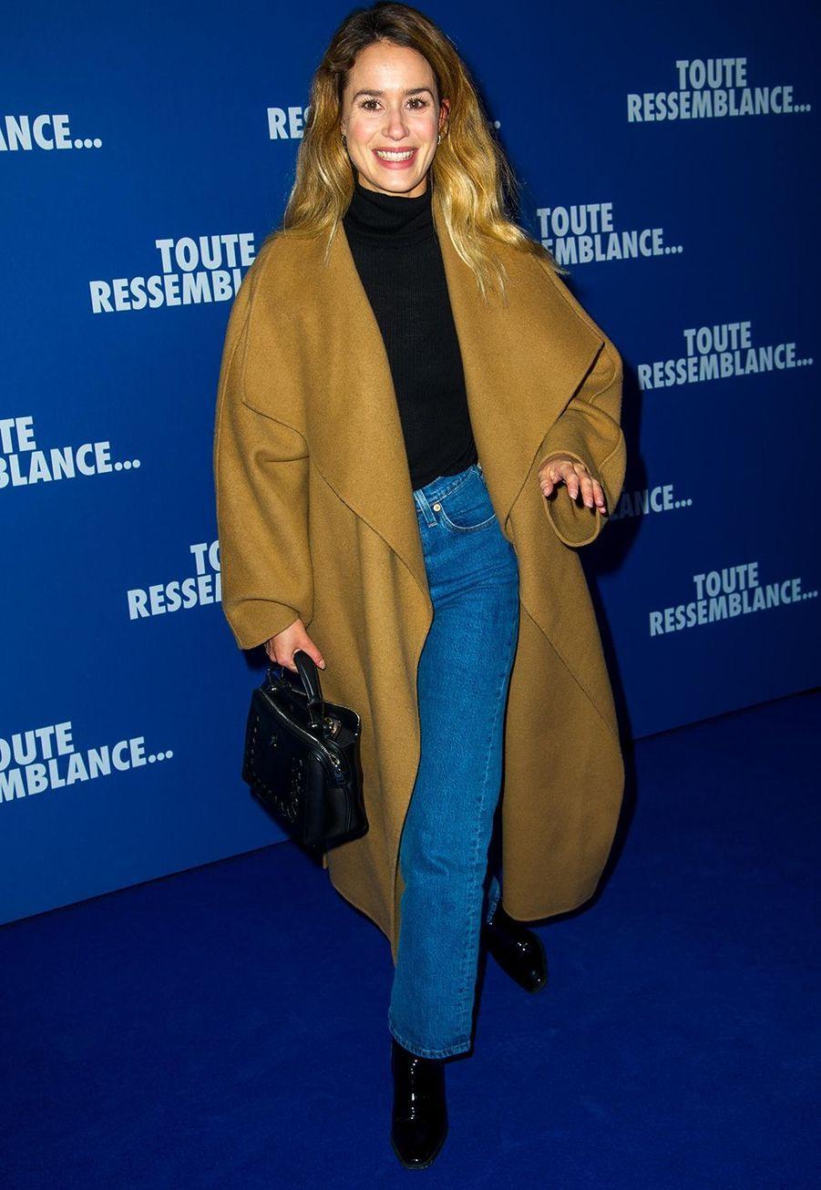 """Alice Davidlorsde l'avant-première du film """"Toute ressemblance..."""" au cinéma UGC Ciné Cité Les Halles à Paris, le lundi 25 novembre 2019."""