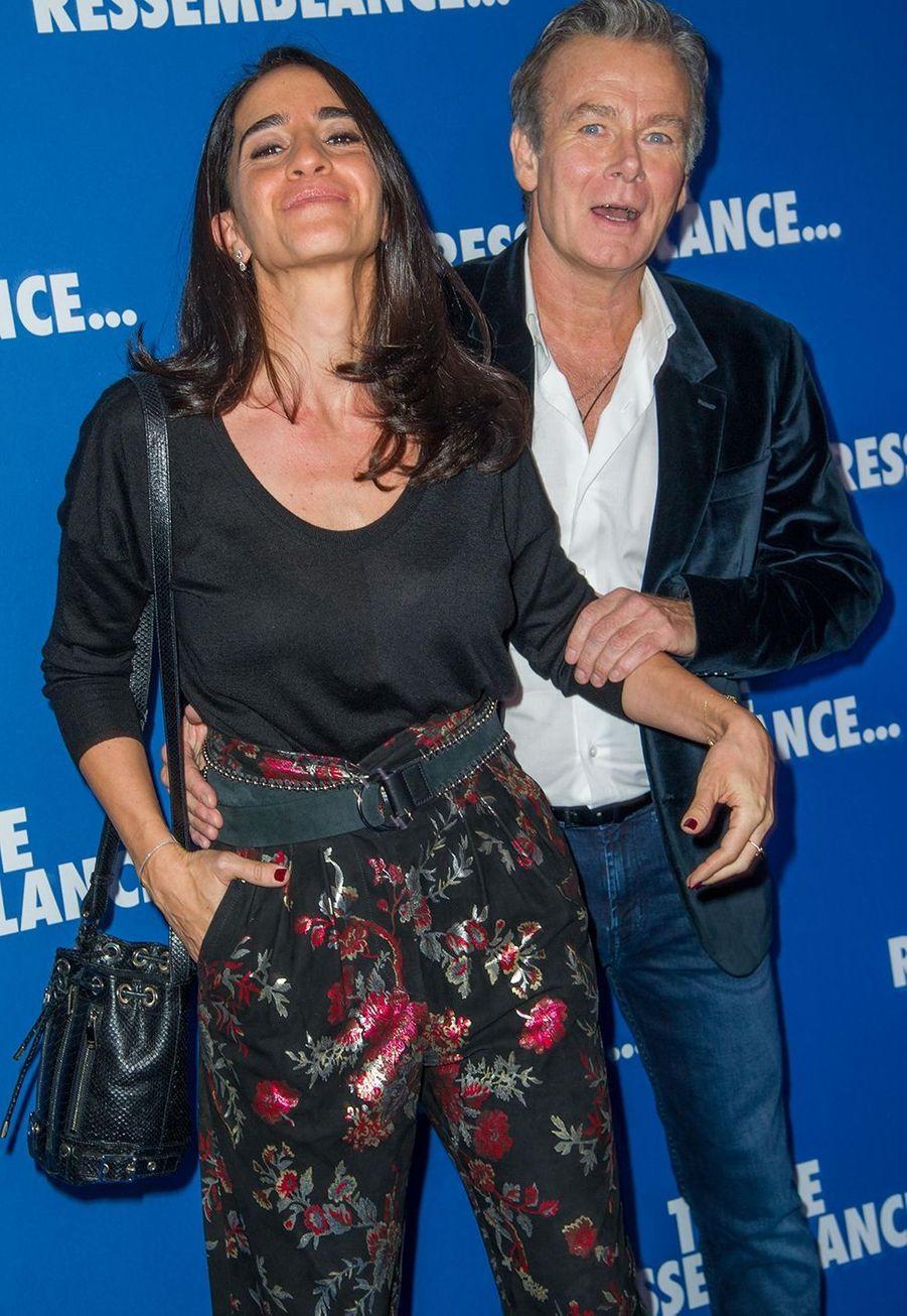 """Franck Dubosc et Daniele Dubosclorsde l'avant-première du film """"Toute ressemblance..."""" au cinéma UGC Ciné Cité Les Halles à Paris, le lundi 25 novembre 2019."""