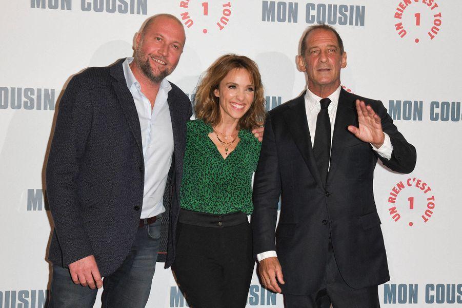 François Damiens, Alix Poisson et Vincent Lindon à l'avant-première du film«Mon Cousin» au Grand Rex à Paris le 28 septembre 2020