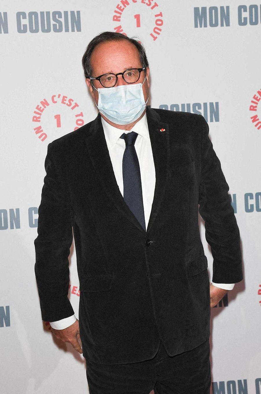 François Hollandeà l'avant-première du film«Mon Cousin» au Grand Rex à Paris le 28 septembre 2020