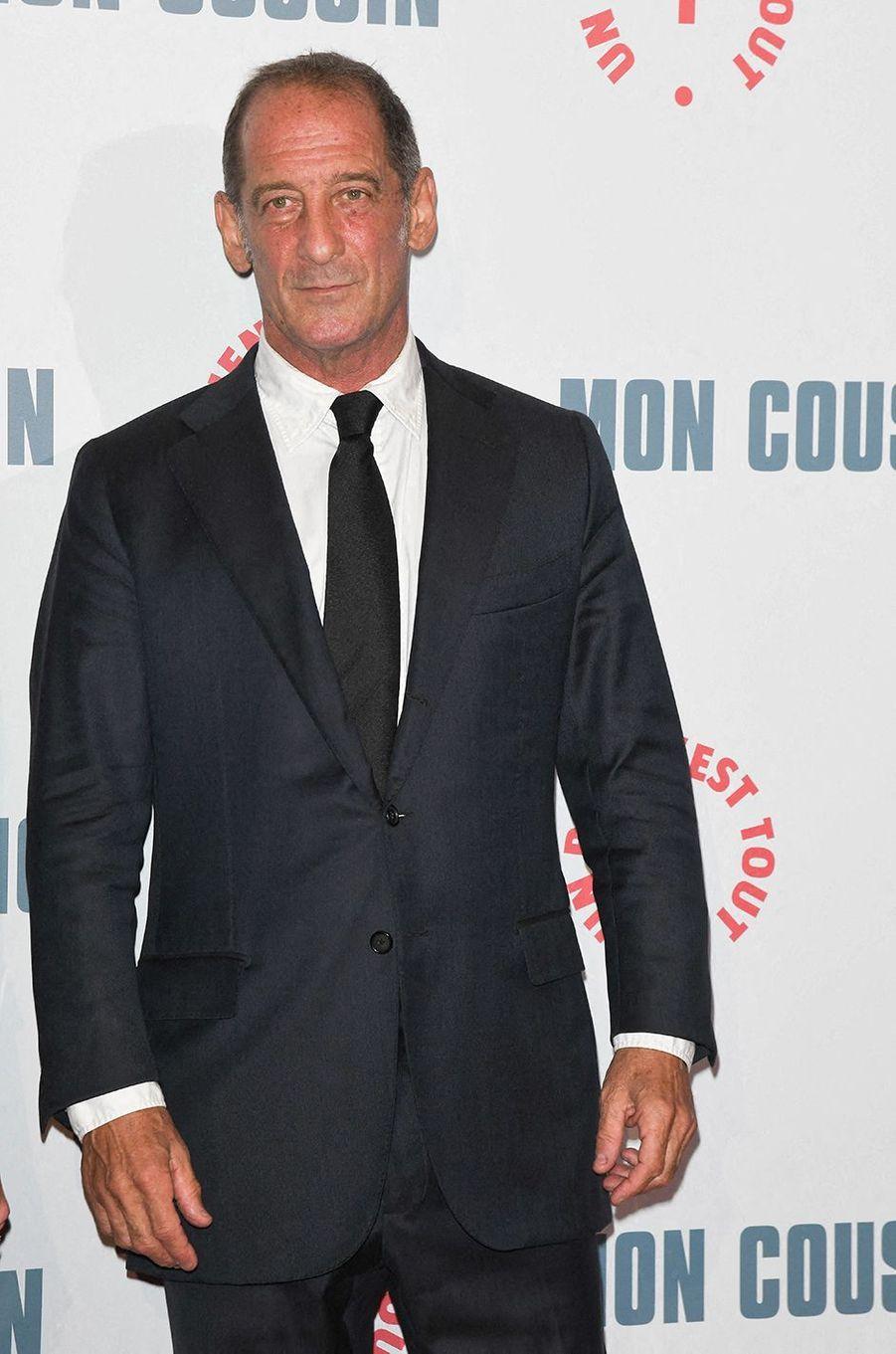 Vincent Lindonà l'avant-première du film«Mon Cousin» au Grand Rex à Paris le 28 septembre 2020
