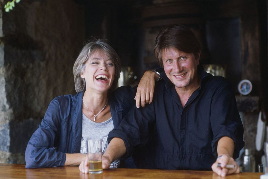 Jacques Dutronc et Françoise Hardy à Île Rousse, en Corse.