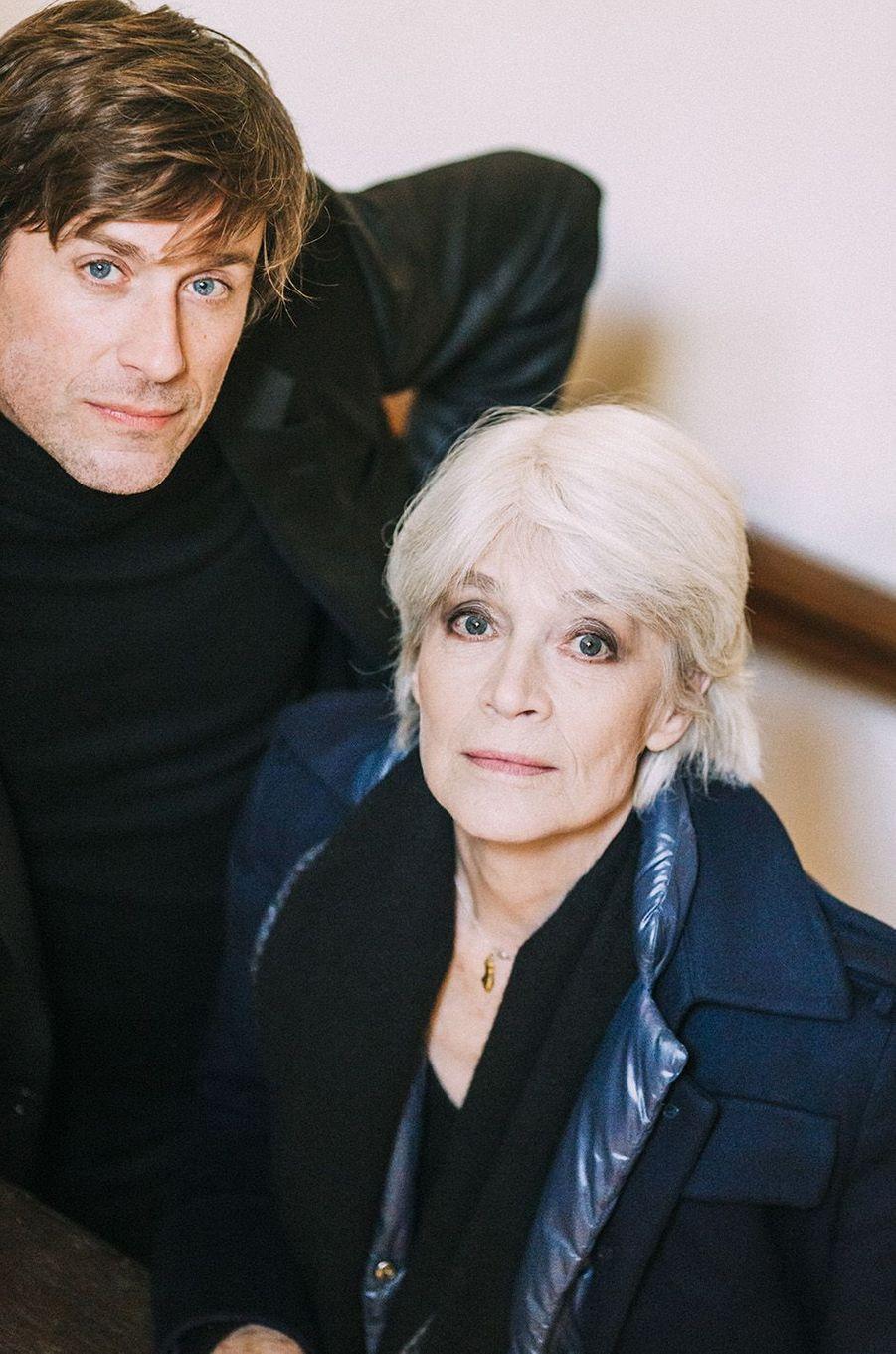 Françoise Hardy et son fils Thomas Dutronc, novembre 2016.